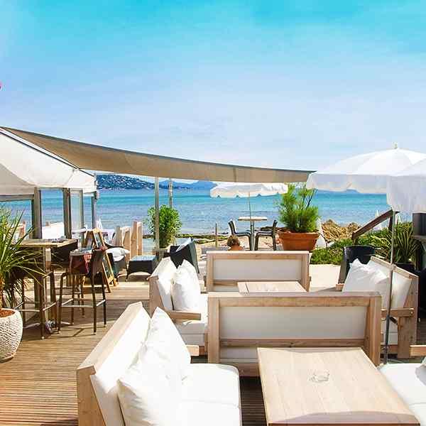 Restaurant et plage privée Mario Plage à Sainte Maxime